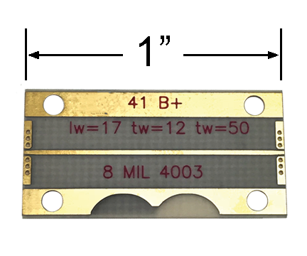 Microstrip RO4003 Test Board